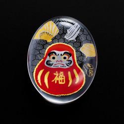Japanese glass chopsticks with daruma motif - SUTIKKURESUTO