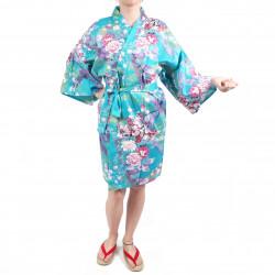 piccola principessa hanten tradizionale da donna in cotone satinato turchese giapponese