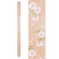 Fine Japanese tapestry in hemp, hand painted, YAEZAKURA, Double Cherry Blossom