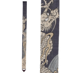 Raffinato arazzo giapponese in canapa, dipinto a mano, TORYUMON, Passaggio