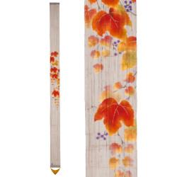 Arazzo di canapa giapponese finemente dipinto a mano, AKITSUTA, vite autunnale