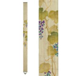 Raffinato arazzo giapponese in canapa, dipinto a mano, YAMABUDO, uva di montagna
