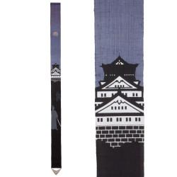 Raffinato arazzo giapponese in canapa, dipinto a mano, SAMURAI