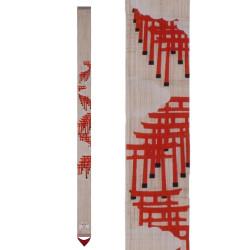 Raffinato arazzo giapponese in canapa, dipinto a mano, SENBON TORII