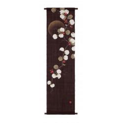 Hemp tapestry, hand painted, SANKIRAI, made in Japan