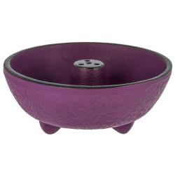 Incense burner in purple cast iron, IWACHU, fountain