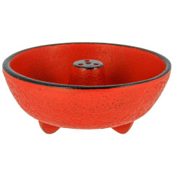 Red cast iron incense burner, IWACHU, fountain
