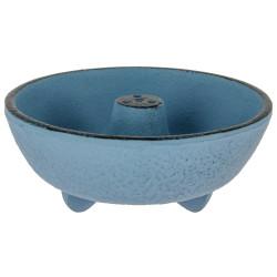 Bruciatore di incenso in ghisa blu, IWACHU, fontana
