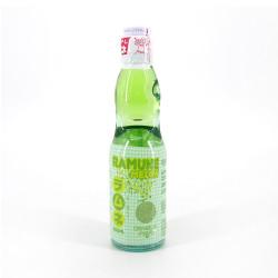 Ramune Japanese lemonade with melon flavor - RAMUNE MELON 200ML