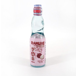 Japanese lemonade Ramune lychee taste - RAMUNE LITCHI 200ML