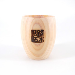 Petit verre à saké oval en bois - MOKUZAI