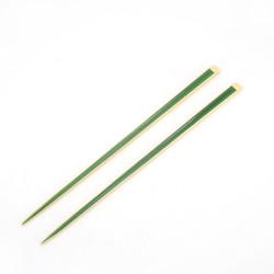 Paire de baguettes japonaises jaunes et vertes - ???