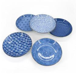 Set de 5 assiettes rondes japonaises - PATANSETTO