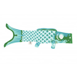 Koi carp-shaped windsock KOINOBORI turquoise
