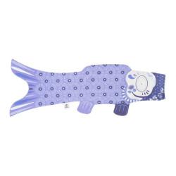 koi carp-shaped windsock, lavender - RABENDA