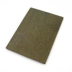 Japanese rectangular ceramic plate - MIDORI - green