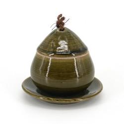 Tazza tradizionale con coperchio - CHAWANMUSHI - verde