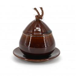 Traditional mug with lid - CHAWANMUSHI - brown