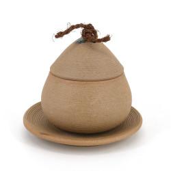 Tazza tradizionale con coperchio - CHAWANMUSHI - beige