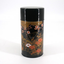 Scatola da tè giapponese in metallo, KOUETSU, nero