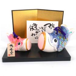 Piccolo ornamento giapponese per pesci in ceramica, SAKANA