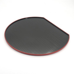 resin round tray, KURO