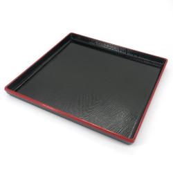 vassoio quadrato con rivestimento aderente, DAIZU MOKUME BON, nero