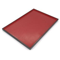 vassoio rettangolare con rivestimento aderente, DAIZU MOKUME BON, Rosso