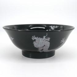 ciotola giapponese per spaghetti ramen di ceramica Ø21cm Shirubādoragon, drago d'argento