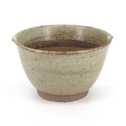 Japanese brown ceramic bowl suribachi - SURIBACHI