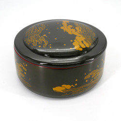 round black resin tray for sushi, NAMI, waves