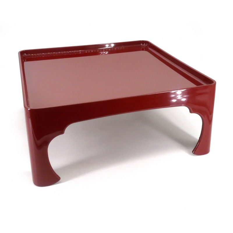 Japanese square meal tray, red, SOWAZEN AKA