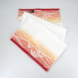 Hand towel, FACE TOWEL OKI NAMI, red
