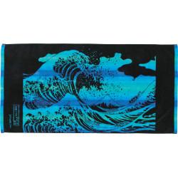 Grande serviette de bain, BATH TOWEL THE GREAT WAVE OF KANAGAWA, vague