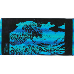 Toalla de baño mediana, BATH TOWEL THE GREAT WAVE OF KANAGAWA, ola
