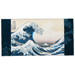 Grande serviette de bain, BATH TOWEL THE GREAT WAVE OFF, Hokusai