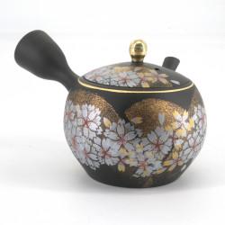 SAKURA tokoname-kutani teapot, white and yellow flowers