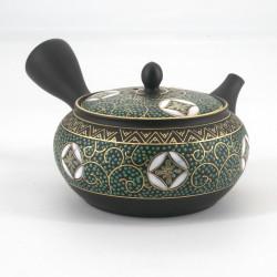 ARABESUKU tokoname-kutani teapot, blue