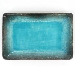 japanese rectangular sushi plate, AIZOMZ SUKAI, blue