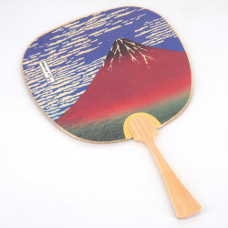 Small non-folding japanese fan uchiwa, FUJISAN, fuji