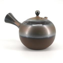 Japanese tokoname kyusu teapot, BURONZU, bronze
