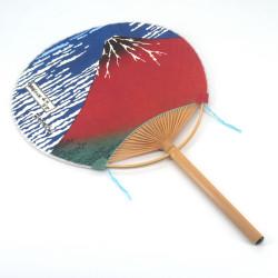 non folding japanese fan uchiwa, FUJISAN, fuji