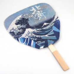 non folding japanese fan uchiwa, HOKUSAI NAMI