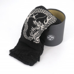 Cotton scarf, COTTON SCARF RYU ZU, black