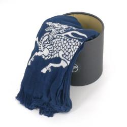 Sciarpa di cotone, COTTON SCARF QILIN, Blu Kirin