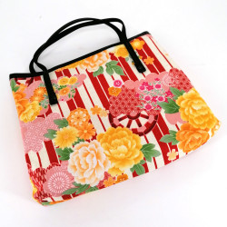 Japanese cotton bag, 1881 P, red
