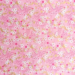 Japanese pink cotton fabric, sakura patterns, cherry blossoms
