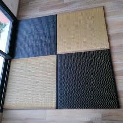 tappeto giapponese in paglia di riso, IBUKI, nero o beige