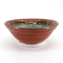 Japanese ceramic suribachi bowl - SURIBACHI - red