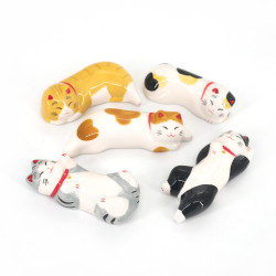 set di 5 porta bacchette giapponesi, NEKO, gatti